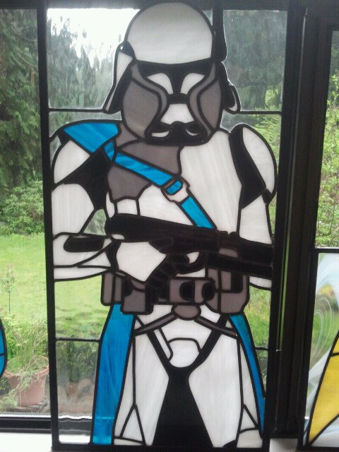 stained glass window ideas door clonetrooperbyaidantleadwindows clone trooper stained glass window windows by deviant artists