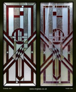 knife-edge stained glass window
